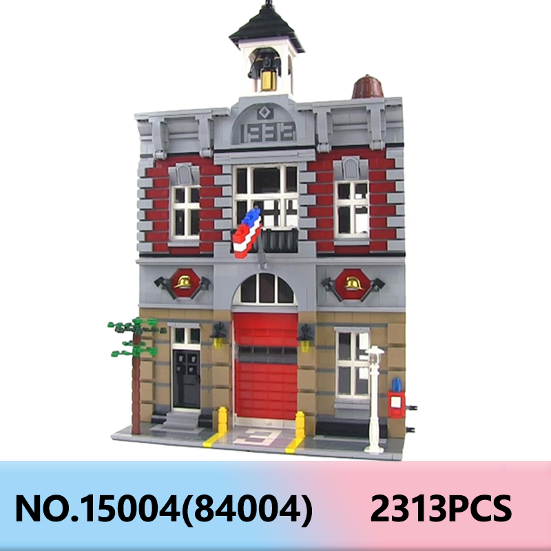 Lepining 15004 Bricks Set Creator Expert City House Fire Brigade Model Building Blocks <font><b>10197</b></font> Children Gifts Educational Toy image