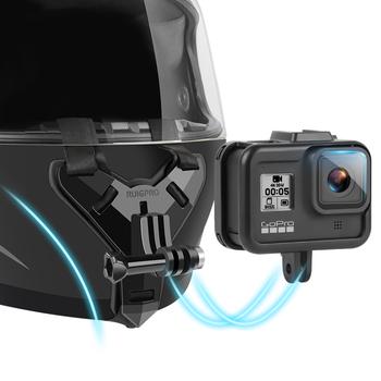 Kask motocyklowy podbródek uchwyt do montażu na stojaku dla GoPro Hero 9 8 7 6 5 4 3 Xiaomi Yi Action kamera sportowa uchwyt na całą twarz akcesoria tanie i dobre opinie ruigpro helmet mount Sjcam SOOCOO EKEN Garmin Sony NIKON CN (pochodzenie) Pasy i Uchwyty Pakiet 1