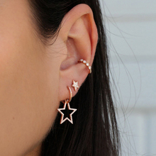2019 New Earrings Set Womens 3pcs Full Five-Pointed Star Banquet Party Decorative