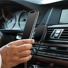 360 derece rotasyon araba iPhone için kablosuz şarj 11 Xs Max/Xs/Xr/8 artı Qi manyetik kablosuz araç şarj için Samsung S10/S9/S8