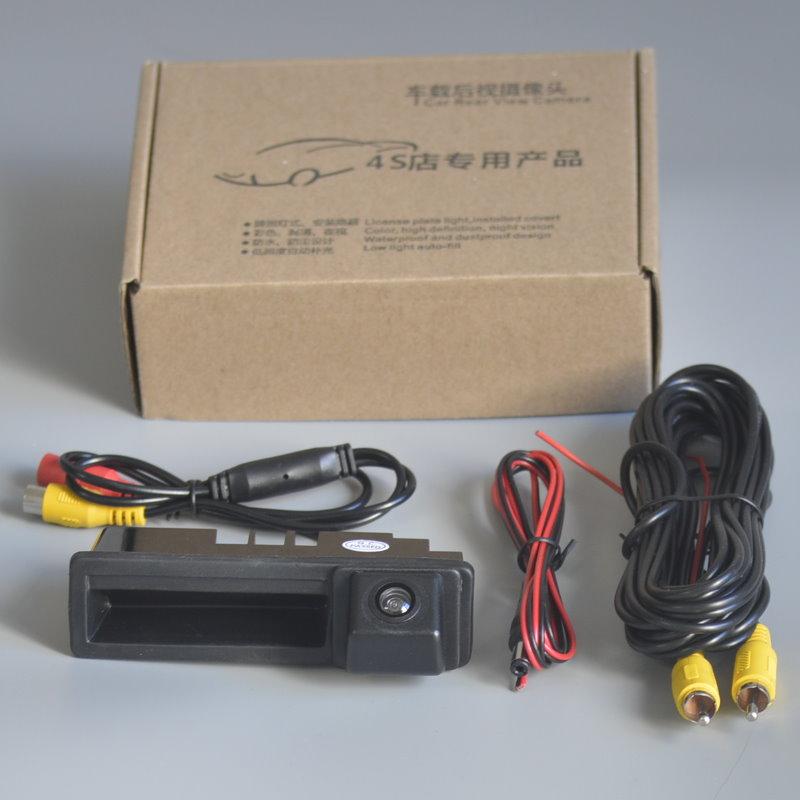 Автомобильная ручка багажника камера заднего вида для Audi A3 S3 RS3 8P 2003 ~ 2013 A4 S4 RS4 B6 B7 2003 ~ 2008 Камера заднего вида HD CCD ночное видение