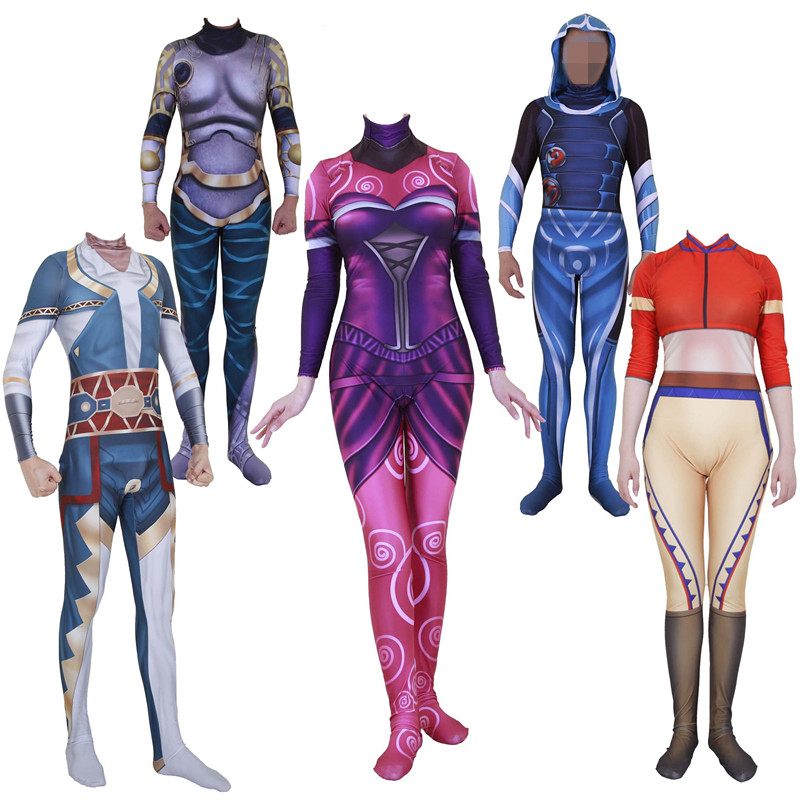 Game Anime Magic The Gathering Planeswalker Jace Beleren Cosplay Costumes Teferi Zentai Jumpsuits Kids Adult Party Halloween New image