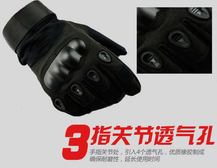 Army Military Tactical Gloves Men Winter Full Finger Hard Knuckle Gloves Paintball Airsoft Shoot Combat Anti-Skid Bicycle Gloves 3