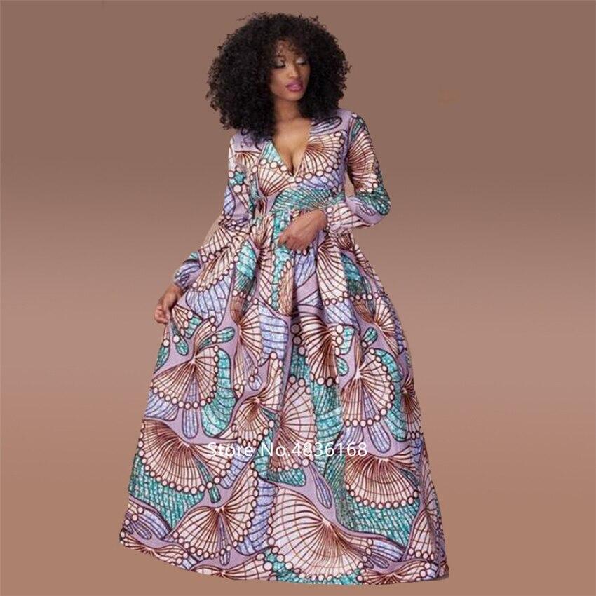 @Kasi V neck african dress 3