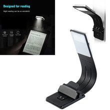 Magnético led livro luz recarregável porta usb portátil lâmpada de leitura regulável com destacável clipe flexível para kindle