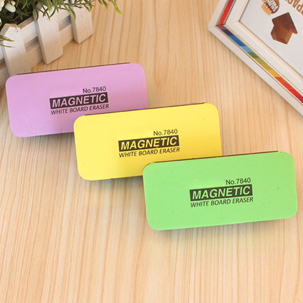 Cleaning Tool Dry Professional Blackboard Eraser Whiteboard Board Rubber Office Marker Stationery With Magnetic Random Color
