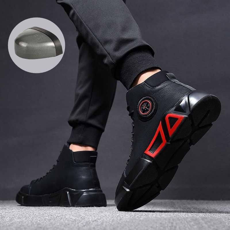 Moda güvenlik ayakkabıları 38 ~ 46 çelik ayak emniyet ayakkabıları Anti-smashing iş ayakkabısı erkekler iş çizmeleri # RN919