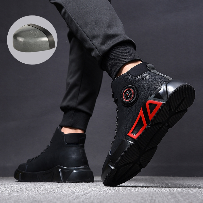 Zapatos de seguridad de moda 38 ~ 46 zapatos de seguridad de punta de acero Anti-smashing ZAPATOS DE TRABAJO hombres botas de trabajo # RN919