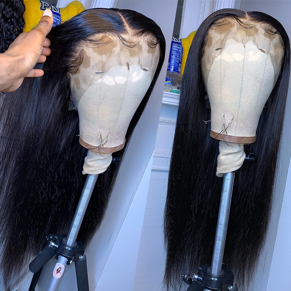 180%Density Pre Plucked Full Lace Human Hair Wigs For Women Glueless Full Lace Wigs Brazilian Straight Wig Natural Hair Any Part