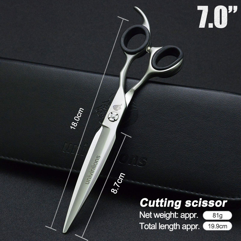 7 Inch Pet Dogs Gromming Scissors Cutting Shears Sharp Edge Animals Cat Hair Cutting Straight Scissors Barbers Cutting Tools