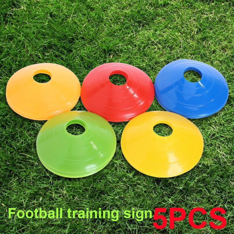 Convenient 5pcs PE Practice Sport Soccer Marker Disc Football Training  Barrier Beginner Court Marker Cones Prop Lawn Marking