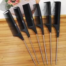 Peigne professionnel pour queue de cheveux, peigne à pointes en acier inoxydable, pour Salon de coiffure