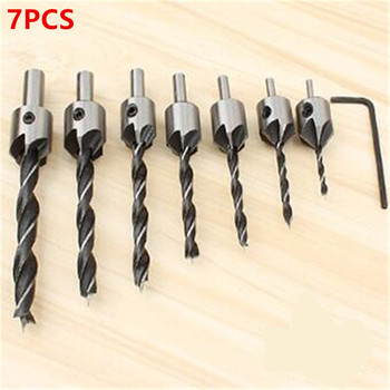 цена на Drill Metal Carpentry Set Countersunk Head Drill Wood Board Hole Puncher Bit High Carbon Steel  Hole Drill
