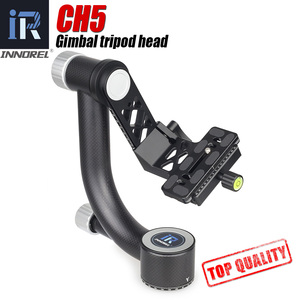Image 1 - INNOREL CH5 Professional Carbon Fiber Gimbal Tripod Head for Telephoto Lens Bird watching Photograph bird Monopod Heads QR Plate