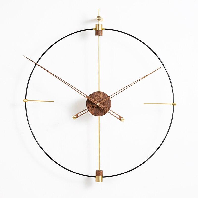 Luxury Extra Large Metal Wall Clock Modern Design Minimalist Style Iron Art 3D Decoration Clocks Wall Watch Home Decor 80 Cm
