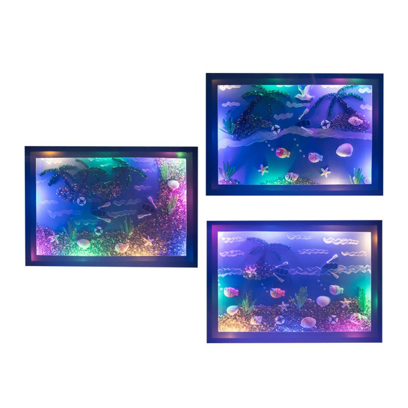 DIY Glowing Shell Painting Children's Learning Education Toy Puzzle Paste Painting Creative Production Material Package