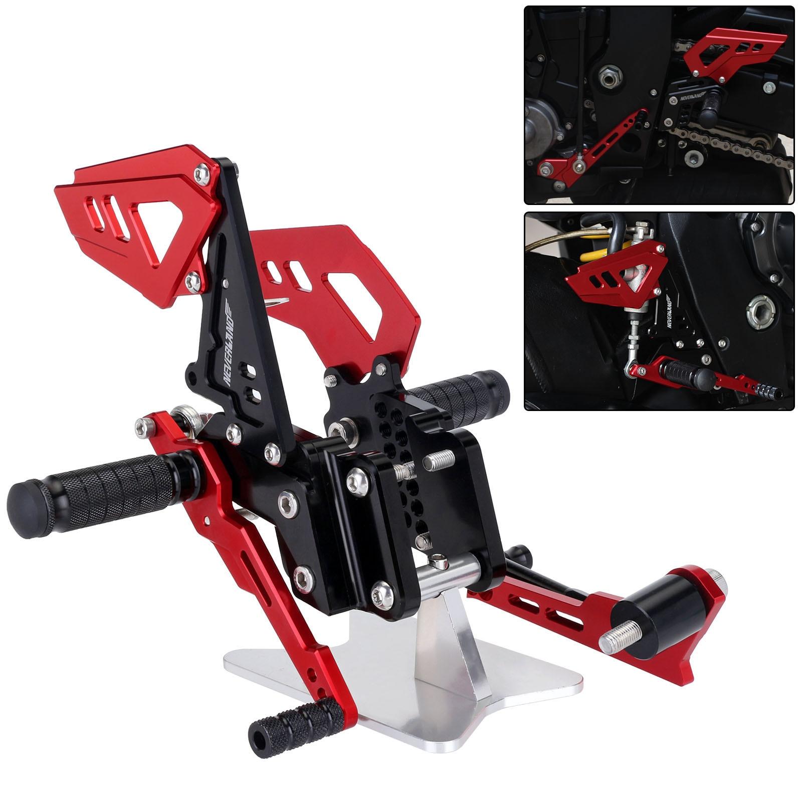 Vermelho Preto Estilo Da Motocicleta Apoio Para Os Pés Traseiros Pé Pegs Pedal Set Para Suzuli GSXR GSX R 600 750 GSX-R D40