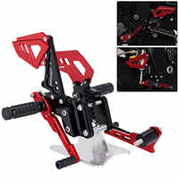 Red Black Style Motorcycle Footrest Rear Foot Pedal Pegs Set For Suzuli GSX R 600 750 GSX-R GSXR D40