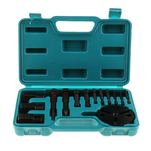 Image 1 - 14 Pieces Car Air Conditioning Compressor Clutch A/C Puller Remover Tool Kit A/C Compressor Clutch Remover Installer Puller Too