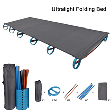 Ultralight Folding Tent Portable Compact for Outdoor Travel Camping Cot Bed Base Camp Hiking Mountaineering Camping Cot Bed D20 манеж кровать babybjorn travel cot light серебряный page 9