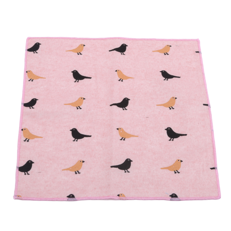 Little Bird Cartoon Cotton Handkerchief Cartoon Printing Casual Suit Pocket Towel High Quality Exquisite Pattern Handkerchief