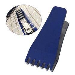 Trwałe przenośne narzędzie do naciągania latanie zacisk praktyczne sprężynowe rakiety do badmintona kompaktowe sportowe łatwe zastosowanie chwytak instrukcja