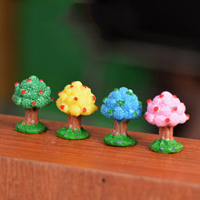Mini Pohon Apel Orchard USA Model Patung Kecil Mini Figurine Kerajinan Ornamen Miniatur DIY Garden Dekorasi Rumah(China)