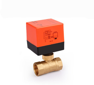 Image 2 - Electric Ball Valve AC220V DN15 50 3 wire 2 way Control Brass Thread Electric Ball Valve stable Motorized Ball Valve