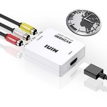 AV к конвертеру HDMI композитный аудио и видео (CVBS) в HDMI красный желтый и Белый лотос для HDMI для телевизора монитор
