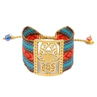 Go2boho MIYUKI Bracelets Pulseira Mujer 2020 Fatima Hamsa Hand Bracelet Women Bohemian Summer Beach Boho Jewelry Handmade Loom