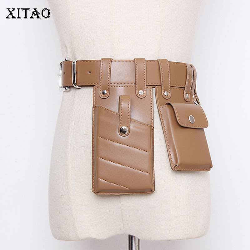 XITAO Fashion Belt Bag Personality New Womens Wide Belts Streetwear Wild Corset Belt For Women Phone Bag Cummerbunds GCC3107