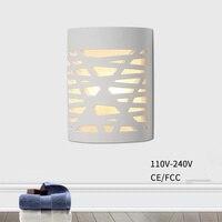 Lámpara de pared creativa geométrica LED 5W interior hogar lámpara de pared de cabecera de dormitorio 110 V/220 V lámpara de yeso interior