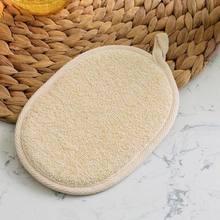 Natural Loofah Bath gąbka prysznicowa rękawica peelingująca Exfoliator myjka do twarzy akcesoria łazienkowe 15*10cm lekka trwała