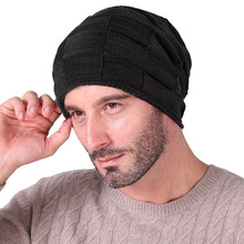 Men and women in autumn winter warm woolen hats plus knit wool