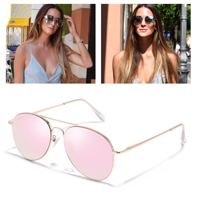 Image 5 - PARZIN Sunglasses Women Classic Pilot Sun Glasses For Men High Quality Alloy Frame Ladies Shades UV 400 53 mm  Driving Glasses-in Women's Sunglasses from Apparel Accessories