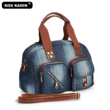 Bolso de mano con estilo para mujer, bolsa de mano femenina, espaciosa y duradera, bolso de hombro estilo vaquero, informal, azul lavado