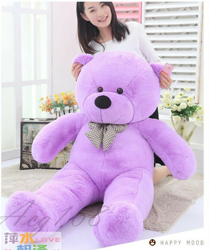 100CM Giant Huge Purple teddy Bear Stuffed animals Plush soft toys doll gift