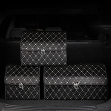 PU Leder Auto Trunk Organizer Lagerung Tasche Box Auto SUV Stamm Lagerung Tasche Klapp Große Fracht Verstauen Aufräumen Auto Zubehör cheap bmlei CN (Herkunft) Stamm Box Tasche PU LEATHER BLACK COFFEE RED car storage bag car turnk organizer pu leather car trunk storage box
