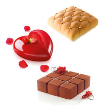 Heart Shaped Silicone Mousse Mold Pastry Dessert Mold Jelly Chocolate Moulds Chiffon Cake Baking Dish Form Cake Decorating Tool