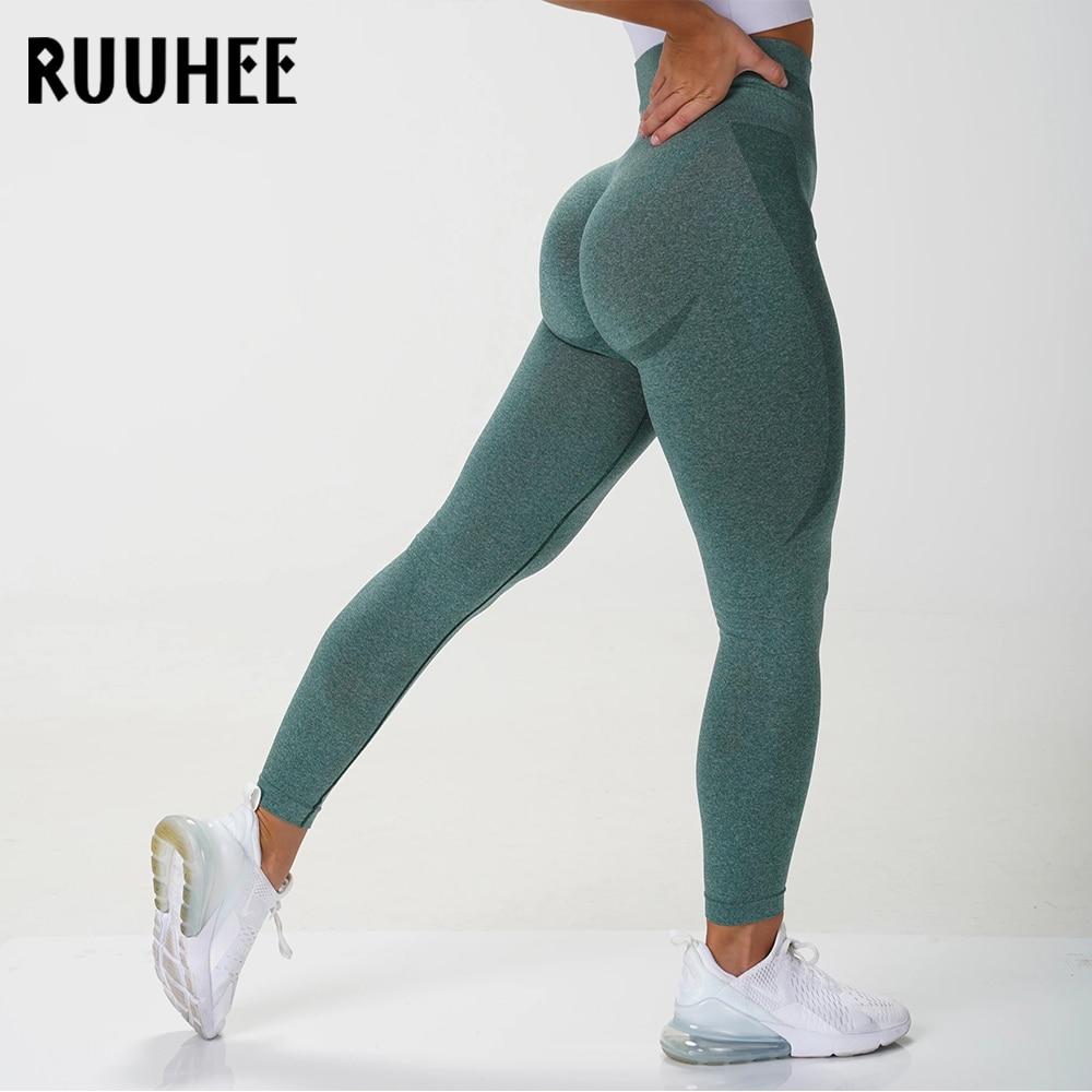 RUUHEE Seamless Legging Yoga Pants Sports Clothing Solid High Waist Full Length Workout Leggings for Fittness Yoga Leggings 1
