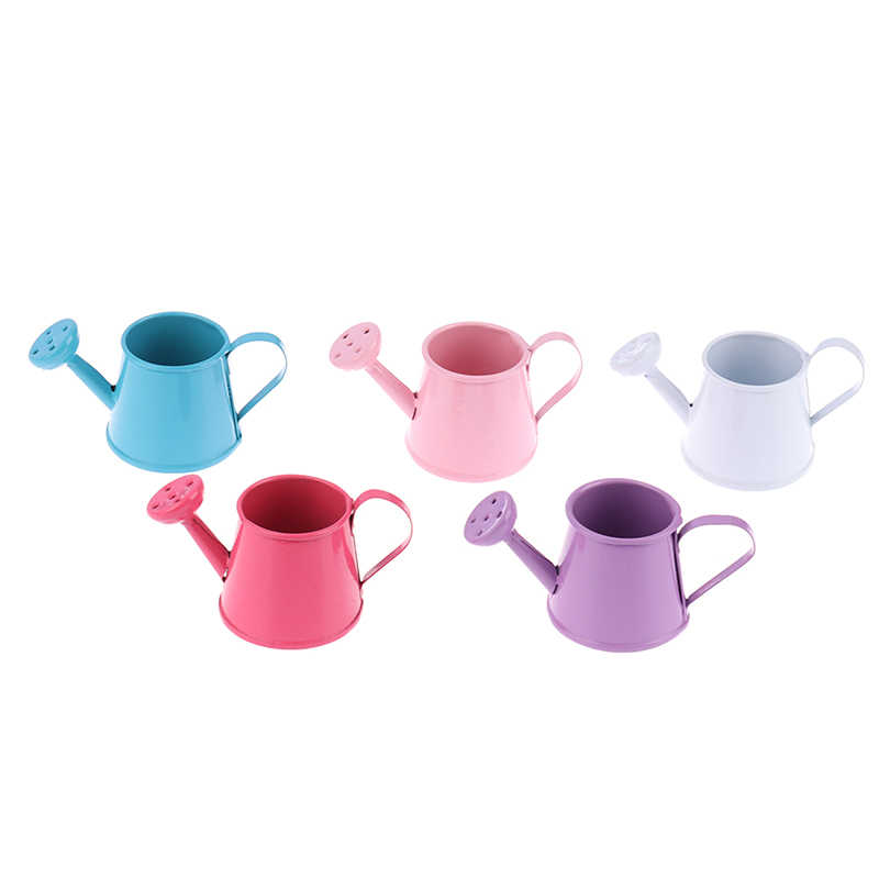 1/12 Metal Watering Can Garden miniature Decoration for Children Kids Dolls Accessories Dollhouse Miniature Furniture Toys