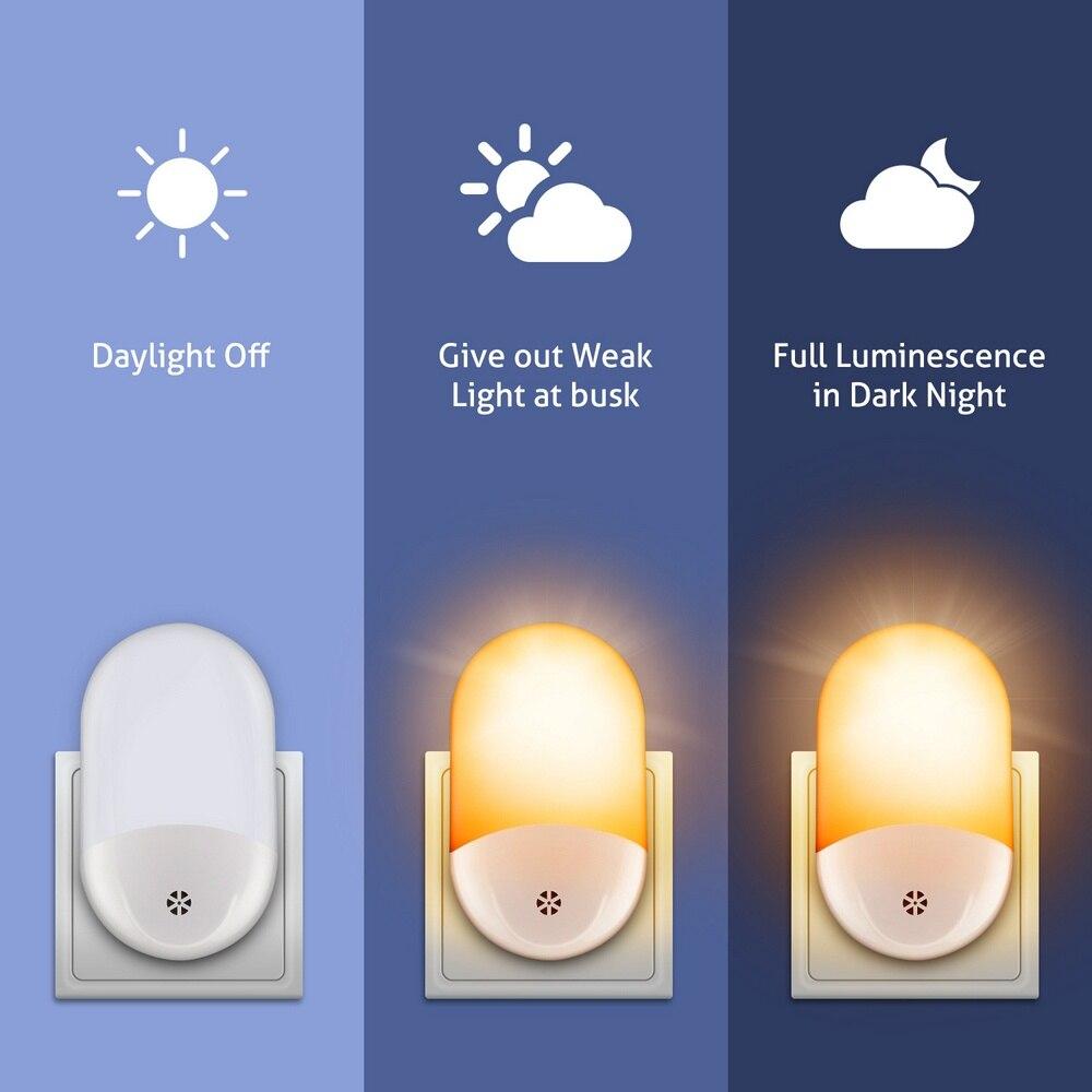 0.6W Light Control Night Light 110-240V Body Infrared Sensor Corridor Light Creative Night Light Room Decoration Decorative