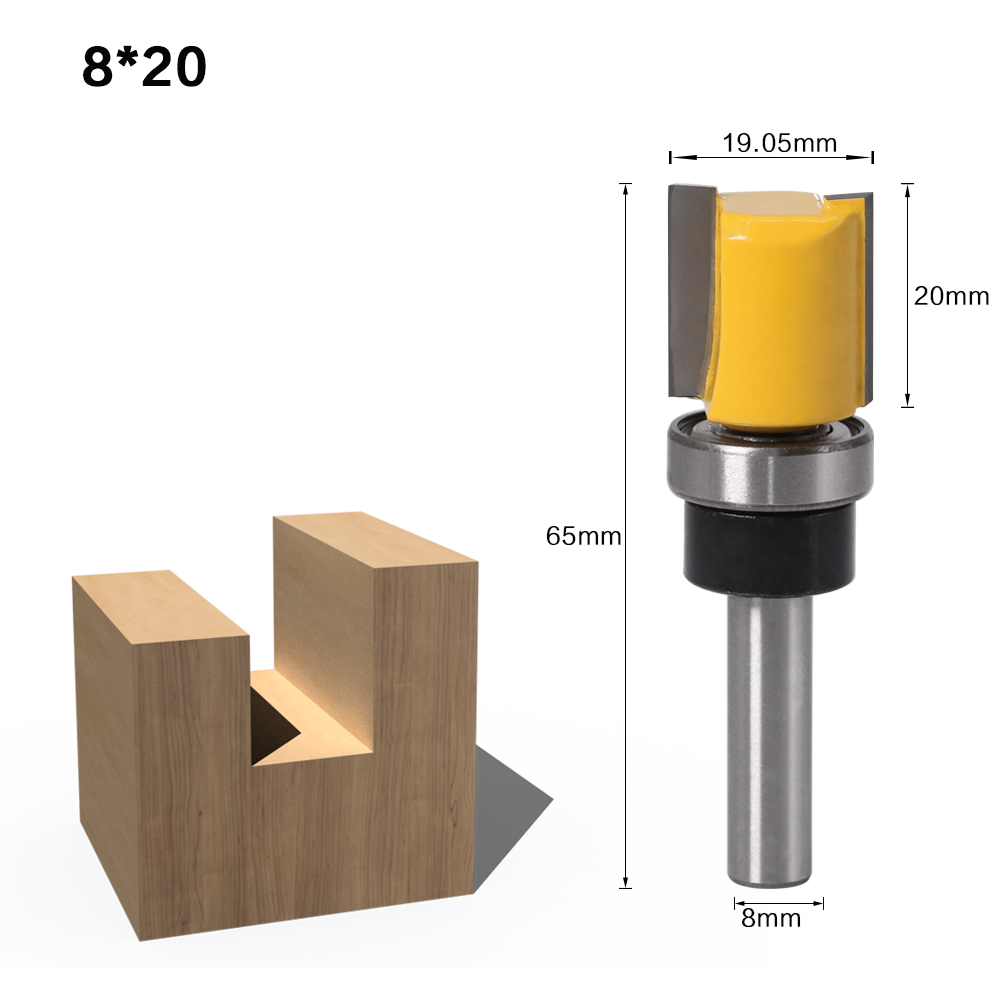 Mortise//Template Trim Router Bit Milling Cutter 1//4/'/'Shank 12mm Dia Cutting