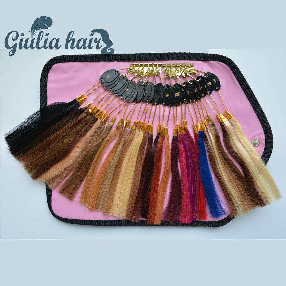 Giulia Human Hair Color Ring 32 pcs Color Ring Human Hair Color Ring For All Kinds of Hair Extensions Color Chart