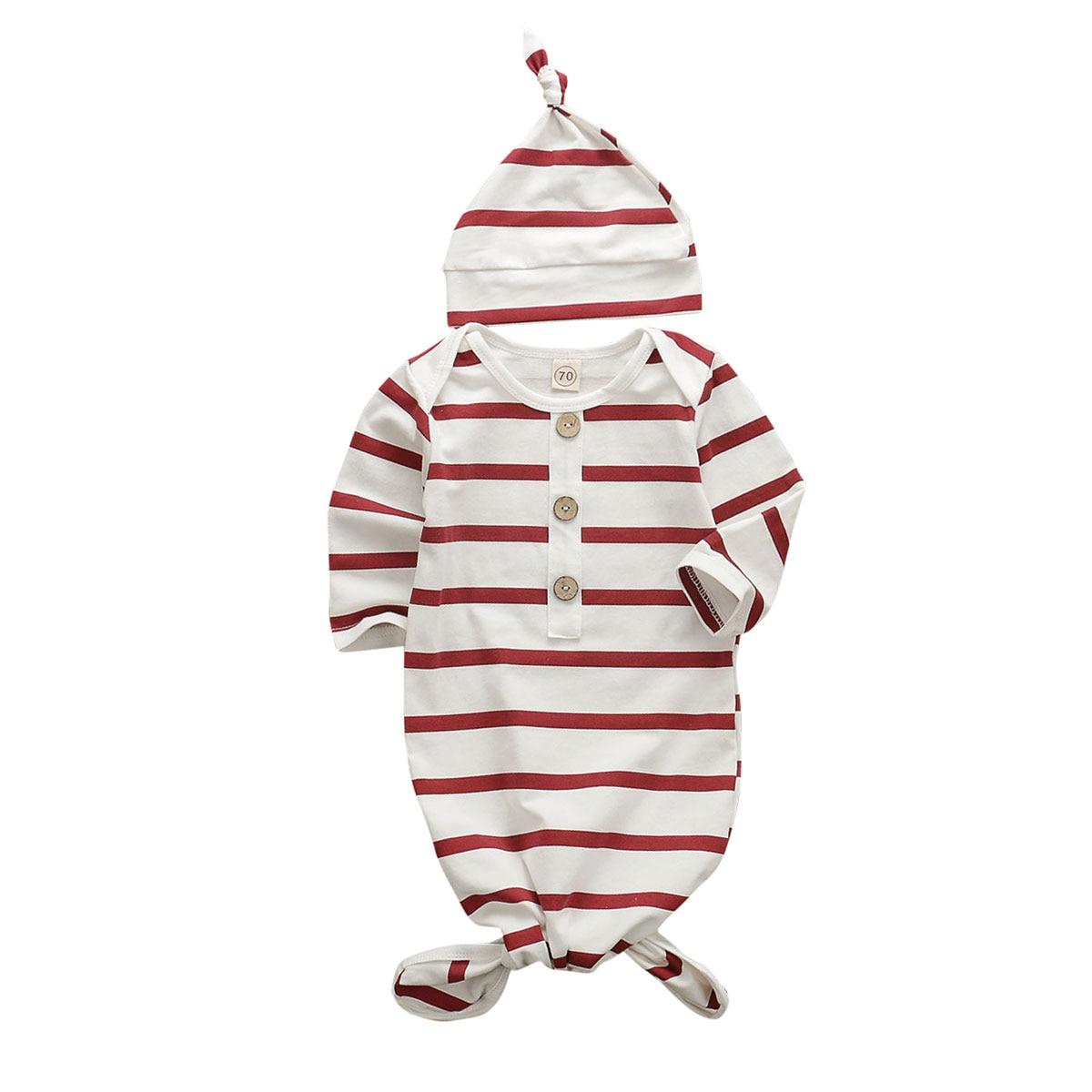 0-6M Infant Newborn Baby Boy Girl Swaddle Wrap Blanket Sleeping Bag  Red White Striped