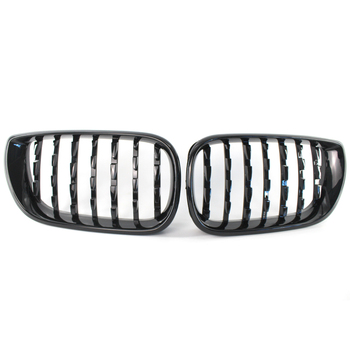 Diamond Style Shiny Gloss Black Kidney Front Grille for BMW E46 3 Series 320i 325i 330i 330xi 325xi Facelift 4 Door 02-05​