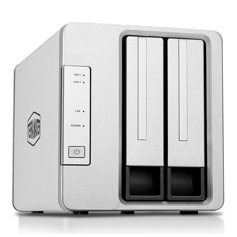 TerraMaster New NAS Server 2-Bay F2-221 Intel Quad Core 2.0GHz 2GB RAM Network RAID Storage For Small/Medium Business (Diskless)