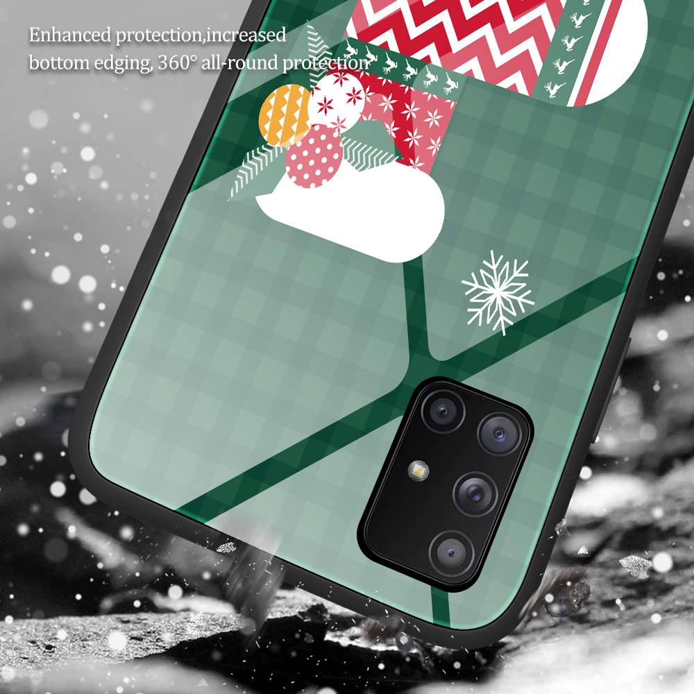 Merry Christmas Tempered Glass Case For Samsung Galaxy Note 20 Ultra