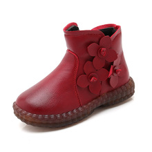 New ChildrenS Autumn Girl Snow Ankle Boots For Warm Kids Fashion Flower Waterproof Winter Shoes 3 4 5 6 7 8 9 10 11 12 Year Old