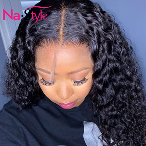 Image 2 - Curly Human Hair Wig 26Inch 13x4 Glueless Lace Front Human Hair Wigs Pre Plucked Bleached Knots 150 250 Brazilian Wig Remy Hair